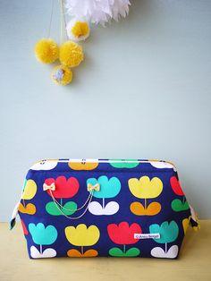 Gabatta Big Mouth Pouch by Tamaki Yui for Kokka Fabrics || a tutorial {google translate}