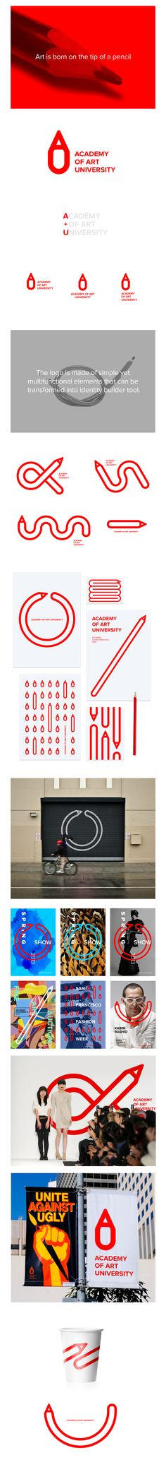 Branding for Academy of Art University San Francisco Corporate Design, Brand Identity Design, Graphic Design Branding, Logo Branding, Corporate Identity, Brochure Design, Menu Design, Stationery Design, Label Design