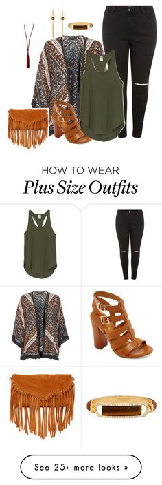 """plus size kimono style/boho chic"" by kristie-payne on Polyvore featuring New…"