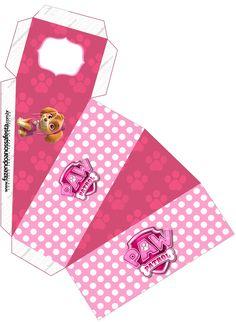 Skye of Paw Patrol: Free Printable Boxes. Skye Paw Patrol Cake, Sky Paw Patrol, Paw Patrol Party, Printable Box, Free Printables, Third Birthday Girl, Paw Patrol Birthday Girl, Cumple Paw Patrol, Pig Birthday Cakes