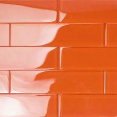 Subway Tile Colors, Glass Subway Tile, Color Tile, Glass Tiles, Orange Aesthetic, Aesthetic Colors, Aesthetic Pics, Splashback Tiles, Backsplash