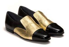 Perlin Women's Handmade Genuine Black / Gold by ShoeMakerEtsy, $195.00