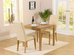 Buy the Oxford Solid Oak Dining Table with Albany Cream Chairs at Oak Furniture Superstore Oak Extending Dining Table, Oak Dining Sets, Solid Oak Dining Table, Corner Dining Set, Square Dining Tables, Extendable Dining Table, Dining Table Chairs, Cheap Furniture, Modern Furniture