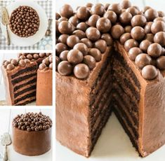 You'll love this Malteser Cake Recipe Easy Video Tutorial that shows you how to make this very popular and incredibly delicious dessert. Xmas Food, Christmas Desserts, Christmas Treats, Christmas Baking, Chocolate Christmas Cake, Christmas Recipes, Chocolate Cake, Köstliche Desserts, Delicious Desserts
