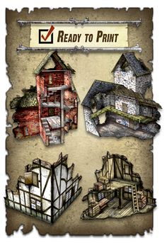 Cool paper models for various miniature games and such