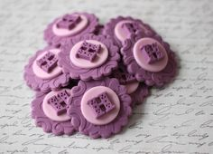 Mauve and Pink Initial Letter Fondant Toppers