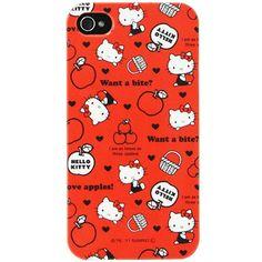 Funda Hello Kitty iPhone 4 4S - Roja