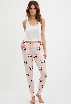 Panda Graphic PJ Pants   Forever 21 - 2000163534