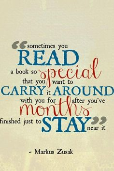 Yes indeed! :) Said the author of a book that I carried around for a while. Can't stop thinking about the Book Thief!