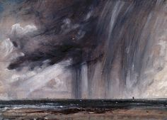"""John Constable, """"Seascape study with rain clouds"""" SEASCAPES In my latest critique group, an abstract artist asked me what I saw when I loo. Sky Painting, Painting & Drawing, Abstract Landscape, Landscape Paintings, Seascape Paintings, Oil Paintings, Impressionist Paintings, Watercolor Landscape, English Romantic"""