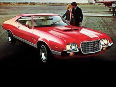 1972 - The first Gran Torino American Dream Cars, American Muscle Cars, Grand Torino, Mercury Cars, Ford Torino, Ford Classic Cars, Ford Fairlane, Us Cars, Car Ford