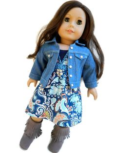 859e00aad15 American Girl Doll Clothes Killara Dress and Tank by 18Boutique Crochet Doll  Clothes
