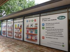 The Co-Op Bookshop's virtual shopping walls in Australia.