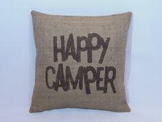 Custom made rustic country Happy Camper dark brown or by ShamShack