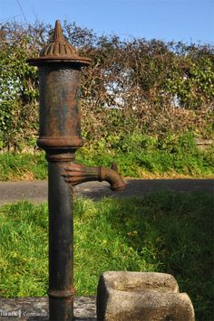 Victorian pump beside the St Feock's Holy Well, Cornwall