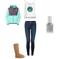 A fashion look from November 2014 featuring The North Face jackets, J Brand jeans and UGG Australia boots. Browse and shop related looks.