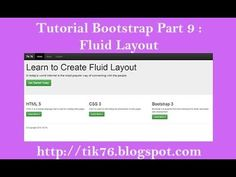 Tutorial Bootstrap 3Part 9 : Create Simple Fluid Layout