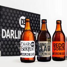 The Darling Brew festive hamper consists of 36 beers Citra Hops, Christmas Beer, Beer Festival, Black Gift Boxes, Goblin, Hamper, Craft Beer, Beer Bottle, Brewing