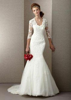 Vestido de noiva é valorizado pela manga longa. Aprenda a usar!