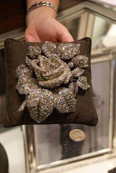 Vanderbilt Rose, a diamond brooch bought by Cornelius Vanderbilt III for his wife Grace, and a quarter