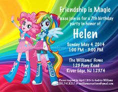 Custom My Little Pony Birthday Invitation by AWilliamsCreations