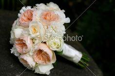 Pink, Cream, and White Garden Rose Bouquet Royalty Free Stock Photo