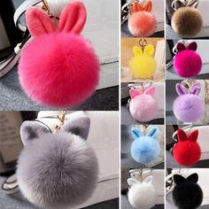 Мягкого кроликов ухо искусственный мех помпон мяч Телефон сумка висит Кулон сумочки брелок – купить по низким ценам в интернет-магазине Joom