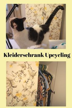 Kleiderschrank Upcycling, Interior, Wohnungsträume, Schlafzimmer, Kleiderschrank, renew Mermaids, Pirates, German, Cats, Diy, Inspiration, Wardrobe Closet, Repurpose, Bedroom