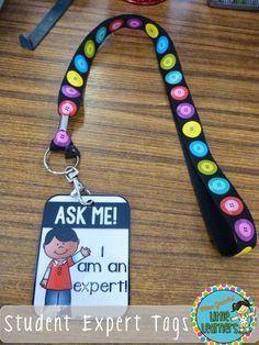 Eliminate the 'CRAY CRAY' with these student Expert Tags! {FREEBIE} by Miss Jacobs Little Learners