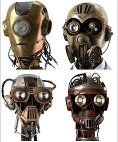 Image result for robot faces steampunk