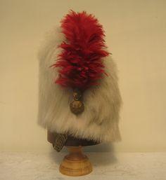 Victorian Royal Scots Greys Kettle Drummers Polar Bearskin Cap, side