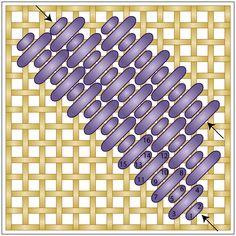 Diagonal Mosaic Stitch