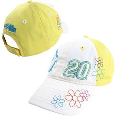 Chase Authentics Matt Kenseth Youth Girls Whim Adjustable Hat - White/Yellow - $13.99