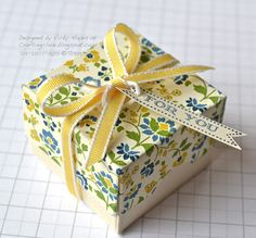 decorated Stampin Up ring box