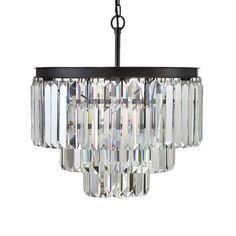 Modern Iron and Crystal Chandelier | dotandbo.com