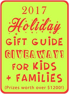 2017 Holiday Gift Guide Giveaway for Families and Kids! Holiday Gift Guide, Holiday Gifts, Christmas Gifts, Kids Prizes, Non Toy Gifts, Great Memories, Family Kids, Photography Tutorials, Giveaway