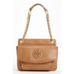 Tory Burch 'Marion - Small' Shoulder Bag. An upscale blend of bling and boho defines a petite chain-strap shoulder bag detailed with a cutout ......[$450.00]