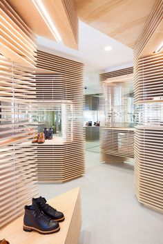 Australian designer Jordana Maisie uses Birch Plywood cut into pieces with a CNC Router to create an eye catching shop interior. For all of your Birch Plywood and CNC Router needs please contact us for a quote.