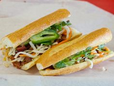 "I WILL go to San Diego to eat this sandwich. ""A Sandwich a Day: BBQ Pork Banh Mi from Cali Baguette Express in San Diego, CA"""