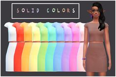 My Sims 4 Blog: Matching Crop Tops and High Waisted Skirts by ...