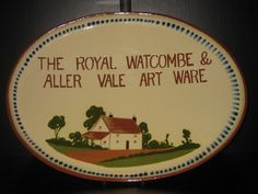 Watcombe Pottery Platter Advertising 'The Royal Watcombe and Aller Vale Art Ware'