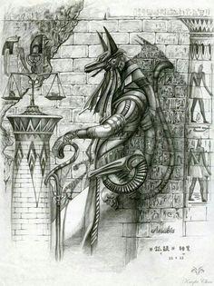 Anubis by KnightChan on DeviantArt Egyptian Anubis, Egyptian Art, Egyptian Mythology, Egyptian Symbols, Tatoo 3d, Hamsa Tattoo, Egyptian Tattoo Sleeve, Anubis Tattoo, African Tattoo