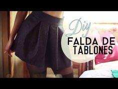 DIY: Falda de Tablones! (Pleated Skirt) - YouTube