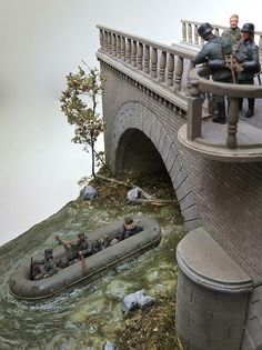 Guarding the Bridge From Scale Models and Dioramas
