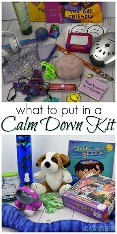 Wanting to create a calm down kit for your child or students? These are the best things to include in a calm down kit for kids. Calm Down Box, Calm Down Corner, Calm Box, Cozy Corner, Calming Activities, Sensory Activities, Activities For Kids, Sensory Play, Speech Activities