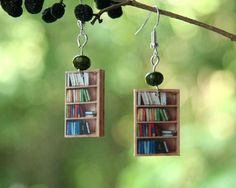 #BookShelf Earrings #BookishGifts WritersRelief.com