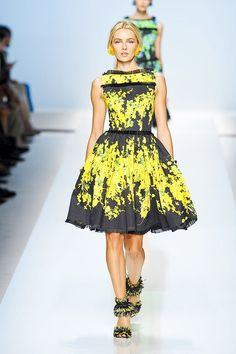 Blumarine Floral-Print Raffia-Trim Dress