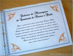 Resultado de imagem para caderno de mensagens para noivos