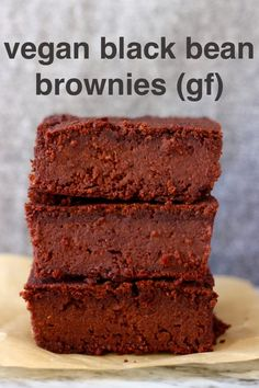 These Vegan Black Bean Brownies are seriously fudgy, rich and indulgent. They're made in just one bowl (food processor) and are dairy-free, egg-free, gluten-free, grain-free, refined sugar free, date-sweetened and oil-free. The best healthy dessert! #rhiansrecipes #vegan #brownies #blackbean #dessert #gluten-free #dairyfree #grainfree #oilfree
