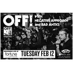 #RVCA presents #OFF! In #Vancouver on Feb 12 at #fortunesound. More info and tickets https://www.facebook.com/events/316939481752788/